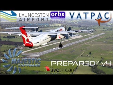 Majestic Q400 On Vatsim Spilled Milk Run Monday, Launceston