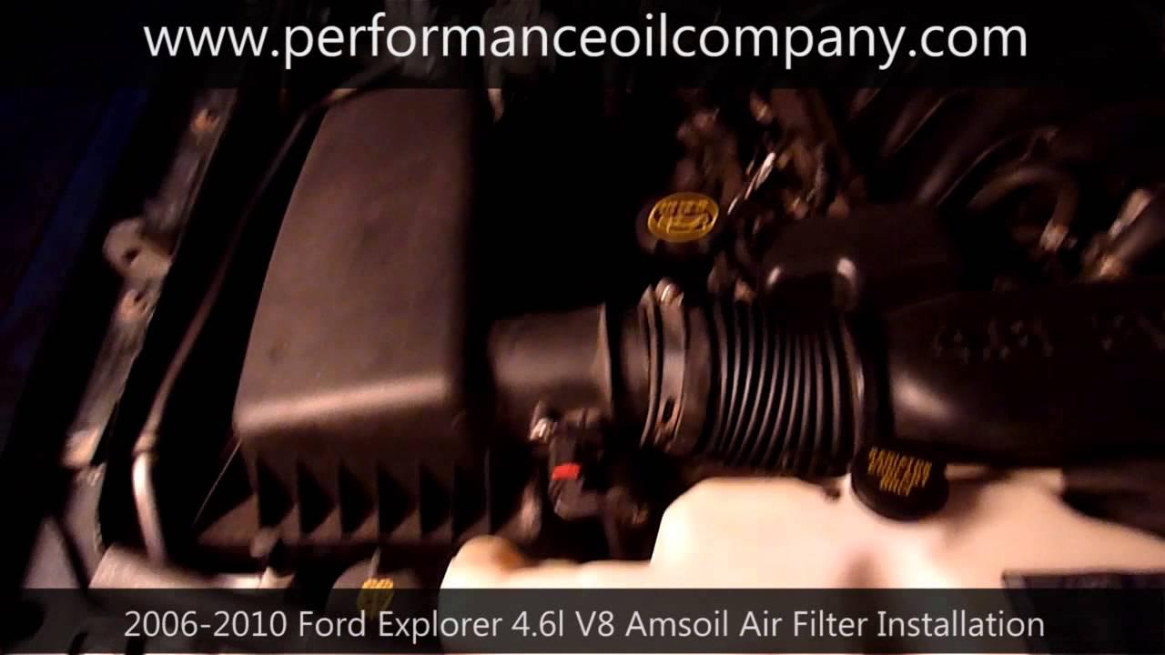 2006 2010 ford explorer v8 amsoil air filter installation