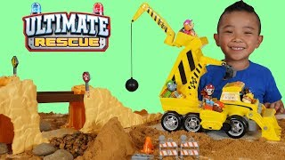 PAW Patrol Ultimate Rescue Construction Truck and Figurines Set Unboxing Fun With CKN Toys