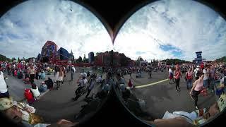 Фан-зона Москва. 360 VR. Матч Россия-Хорватия. 2