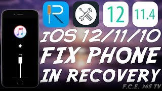 [ReiBoot] How To Fix Any iPhone / iPad / iPod Stuck In Recovery Mode (iOS 12 - iOS 7)