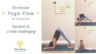 55-minute Yoga Flow I Strong core to release lower back pain I DYNAMIC & a little challenging