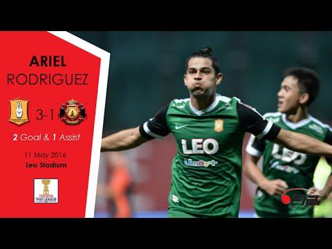 Ariel Rodriguez - Bangkok Glass 3-1 Sisaket - Thai League 2016