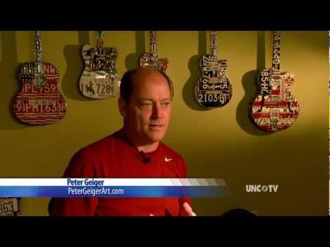 Peter Geiger License Plate Guitar Art on UNC-TV North Carolina Now