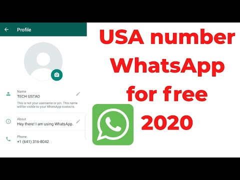 How To Create USA WhatsApp Number For Free | Create Fake WhatsApp Number For Free |  2020