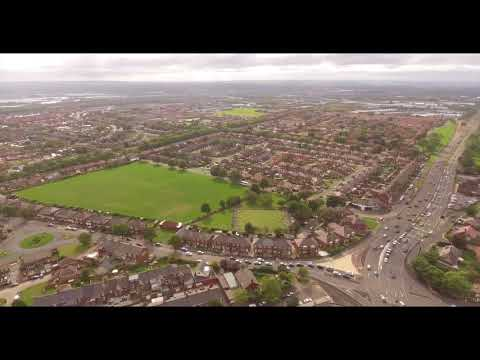 Dave's Allotment DJI Phantom 4 Drone 4K Footage Test. North Shields.
