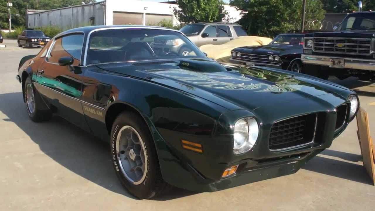 Sold 1973 Pontiac Trans Am For Sale Extremely Rare Brewster Green Code 48 Matching 455 Big Block