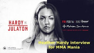 Heather Hardy Interview Before Ana Julaton at Bellator 194
