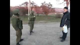 Разговор Крымского Татарина и военного из РФ Крым 13 03 14