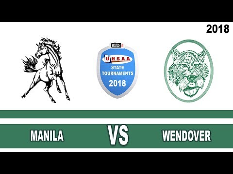 1A Girls Basketball: Manila vs Wendover High School UHSAA 2018 State Tournament Round 1