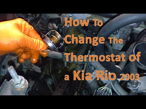 How To – Change/Replace a Thermostat on a Kia Rio 2003