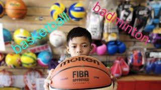 Basketball and badminton