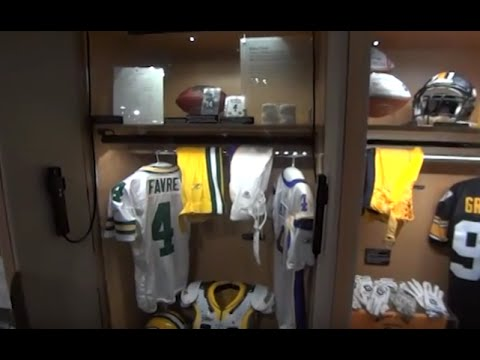 purchase cheap f2c22 7f024 VIDEO :: See Brett Favre's Locker at the Pro Football Hall ...