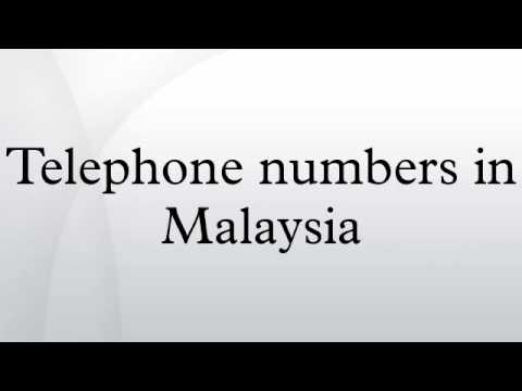 Telephone numbers in Malaysia
