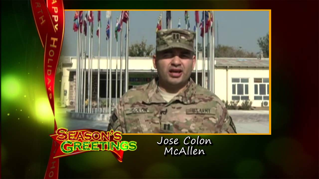 Military Holiday Greeting Jose Colon Mcallen Tx Youtube