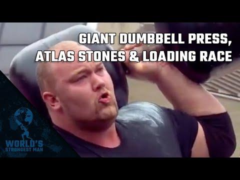 2011 World's Strongest Man | Giant Dumbbell Press, Atlas Stones & Loading Race