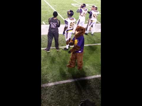 Miles College Mascot gets turnt