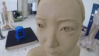 [미대오빠] 조소과 인체조형 제작과정 (클레이-석고-F…
