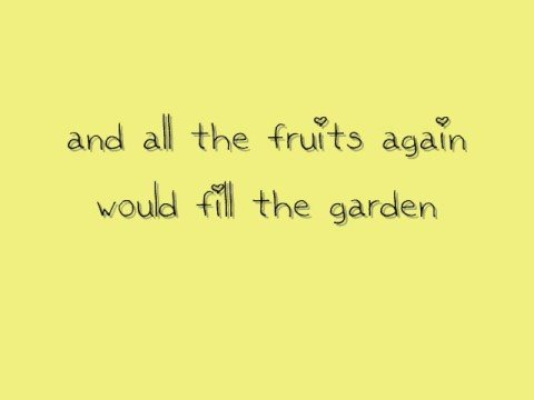 Mirah - The Garden (with lyrics and a cute font!)