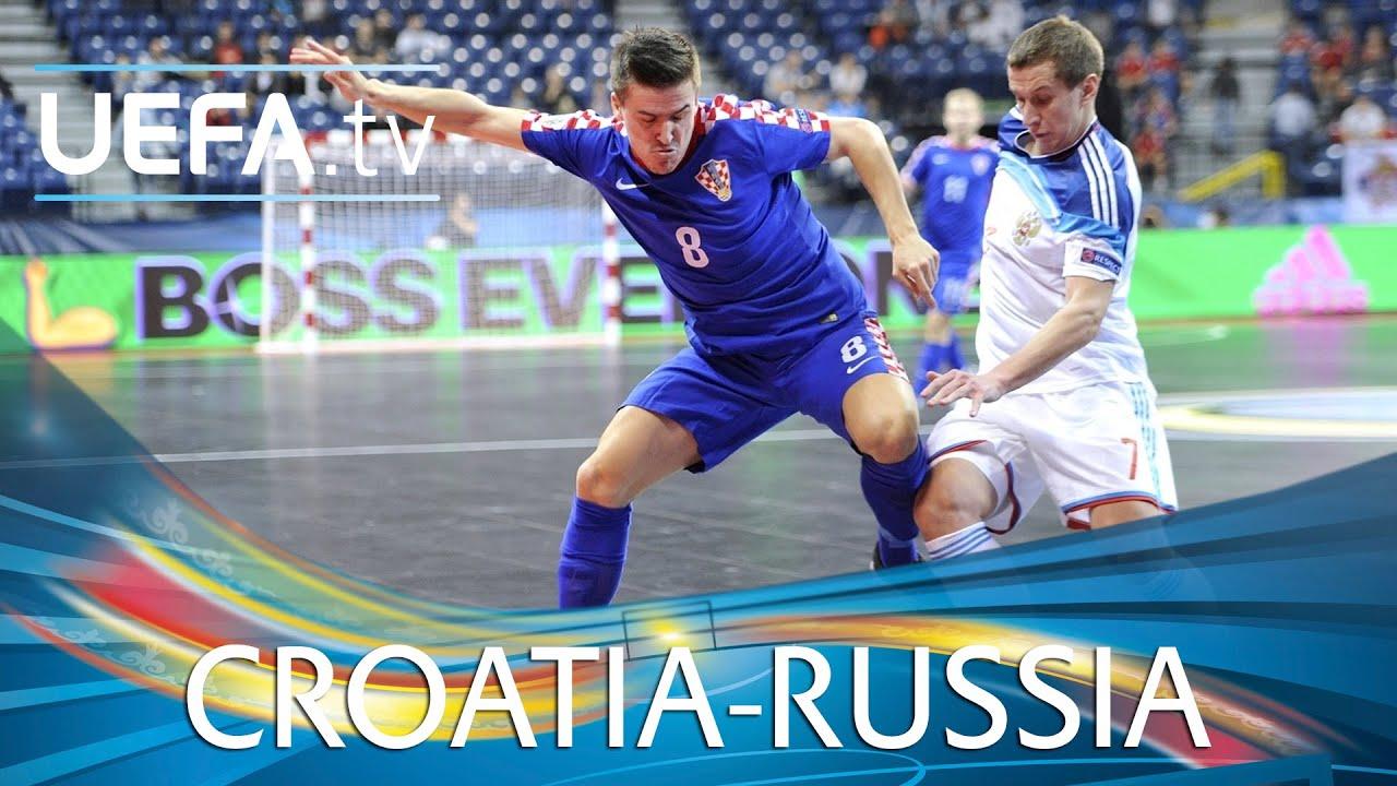 Futsal EURO Highlights  Superb volley helps Russia pip Croatia - YouTube e4a7cdc8fcbb9