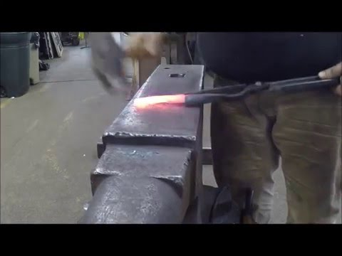 "forging a 4"" hunting knife"