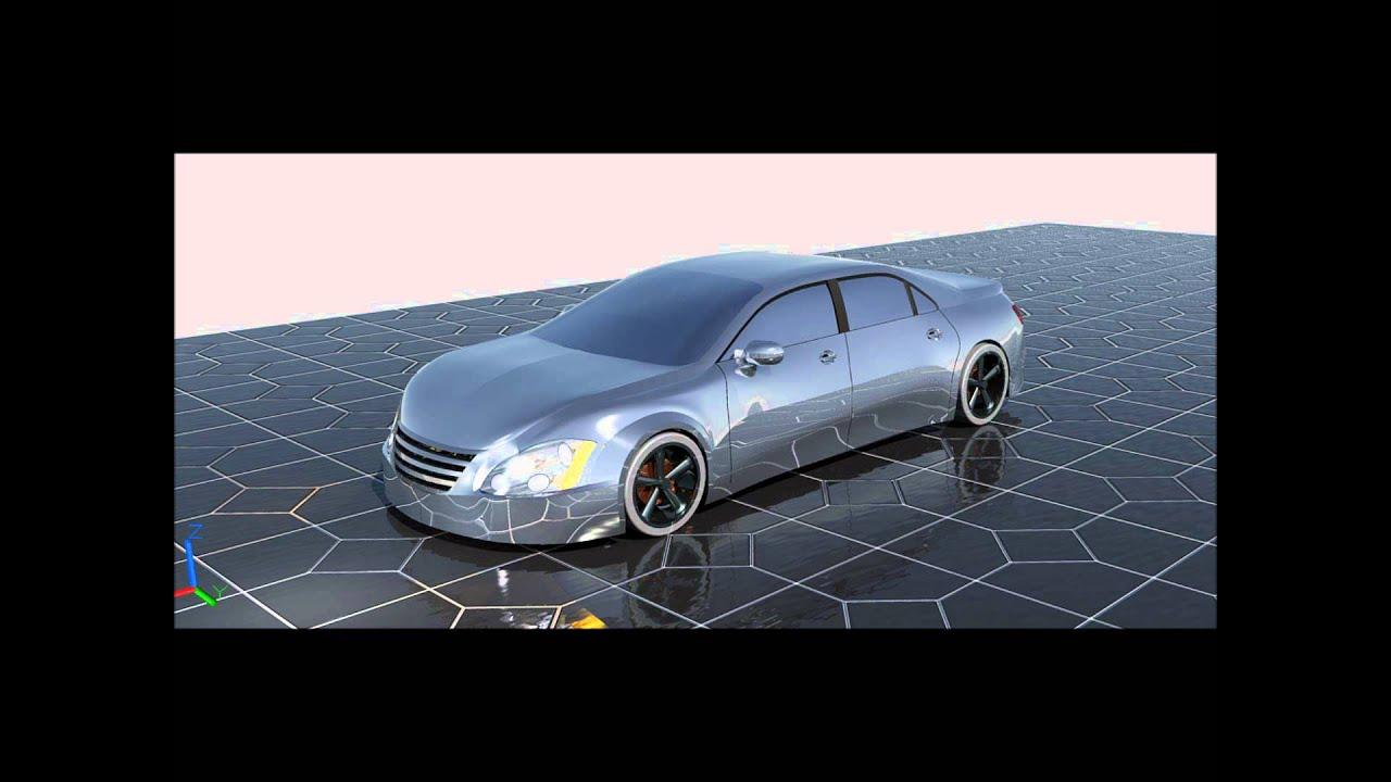 Autocad 3d Car Model Youtube