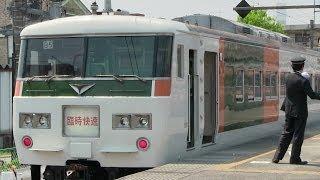 JR両毛線 足利駅 185系(足利藤まつり)