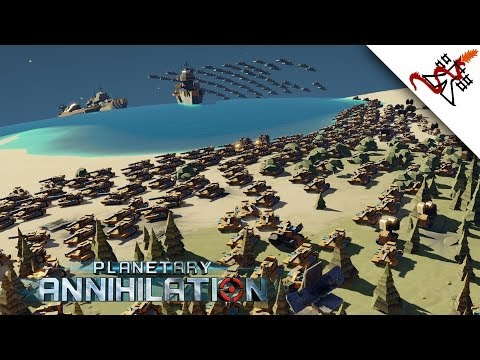 Planetary Annihilation - 1vs1vs1vs1vs1 Multiplayer Combat | Gameplay [Gamma/1080p/HD]