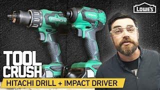 ToolCrush: Hitachi Cordless Drill + Impact Driver   Tool Review