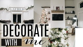 DECORATE WITH ME   CHRISTMAS 2018   HOW I FLOCK MY TREE
