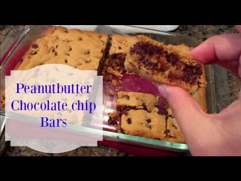 Peanut Butter Chocolate Chip Bars {AMAZING}