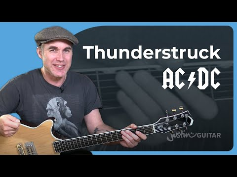 AC/DC - Thunderstruck Guitar Lesson Riff, Chords & Rhythms