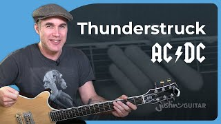 How to play Thunderstruck by AC/DC Angus Malcolm  - Guitar Lesson Tutorial Aussie Classic SB-509