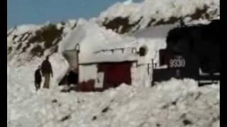 snow plow getting stuck then un stuck
