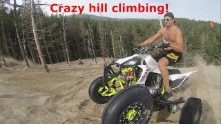Crazy Quad Hill Climbing At Sand lake, Oregon!