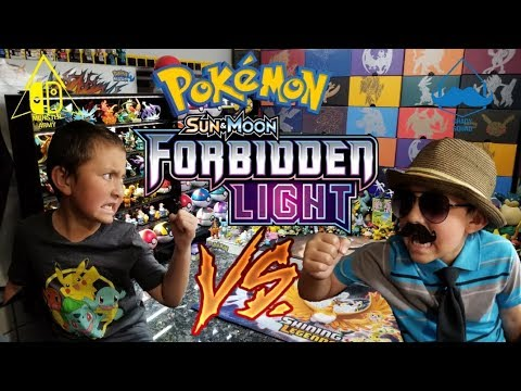 ETHAN FIGHTS CARL!! New Forbidden Light Booster Pack Early Opening!! Pokemon Cards Battle!