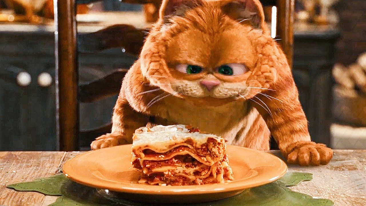 Lasagna Dance Scene Garfield 2 2006 Movie Clip Youtube