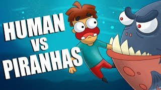 What If You Drop a Human Body To Piranhas?