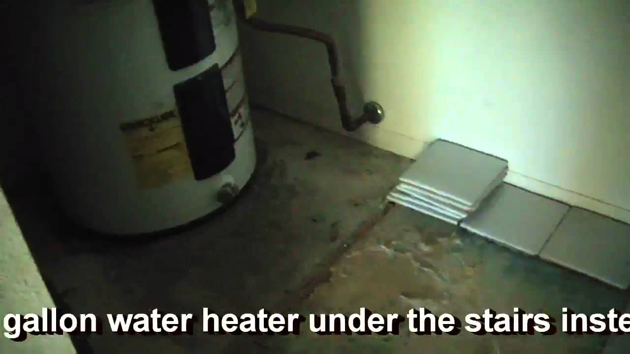 What were they thinking water heater under stairs youtube water heater under stairs dailygadgetfo Images