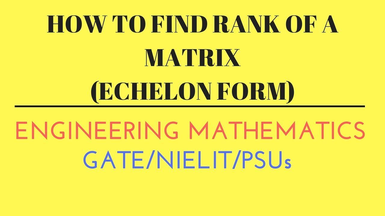 How to Find Matrix Rank