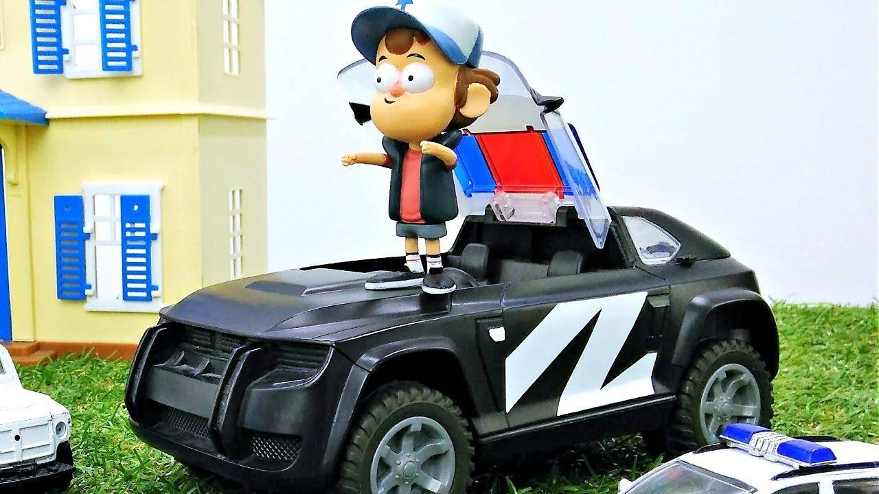 Диппер хочет стать полицейским! Видео про Гравити Фолз.