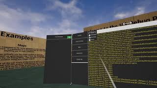 VR Debug Plugin Output Log Module