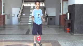 池東國小扯鈴教學影片 3 高級 繞腳轉身