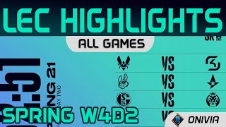LEC Highlights Week4 Day2 LEC Spring 2021 All Games By Onivia
