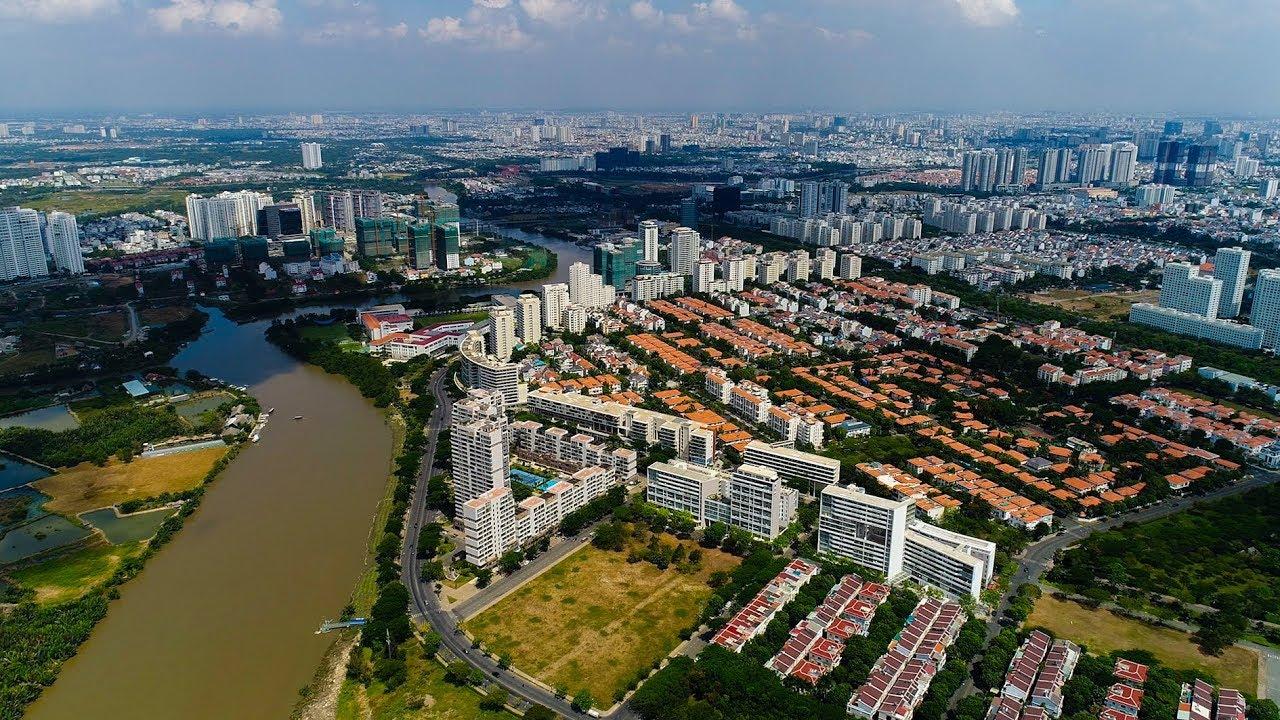Toàn cảnh Quận 7 TP. Hồ Chí Minh – Panorama District 7 Ho Chi Minh City, Vietnam