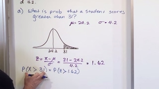 Lesson 15 - Finḋing Probability Using a Normal Distribution, Part 4