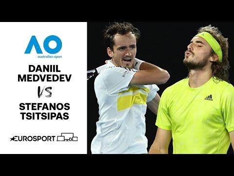 Daniil Medvedev v Stefanos Tsitsipas | Australian Open 2021 - Highlights | Tennis | Eurosport