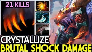 Crystallize [Ursa] Brutal Shocking Damage Crazy Game 7.21 Dota 2