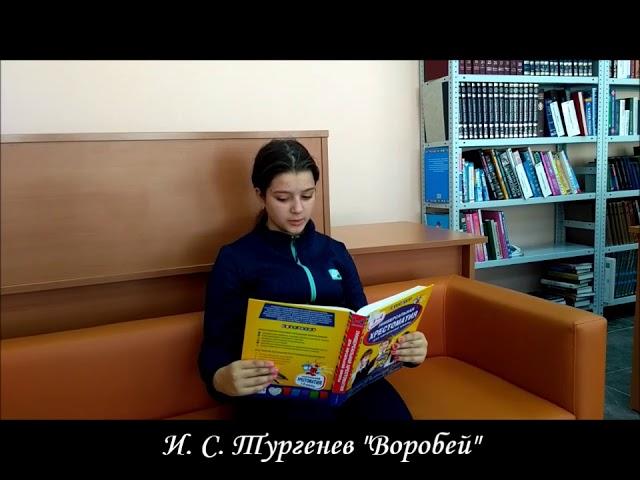 Изображение предпросмотра прочтения – ВераКожакина читает произведение «Стихотворение в прозе Воробей» И.С.Тургенева