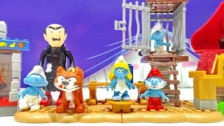 Mega Bloks Collection Gargamel Set 10718 Papa Smurf's House 10709 Smurfettes House Building Playset